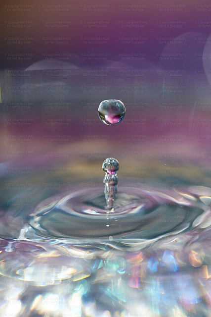 Iridescent Pink Drops Version 2